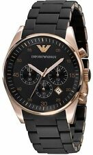 Emporio Armani AR5905 Black Sportivo Chronograph Wrist Watch for Men's