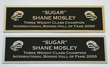 Sugar Shane Mosley nameplate for signed boxing gloves trunks photo