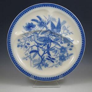 antique villeroy boch mettlach flow blue fasan grill plate 10 3 4 ebay. Black Bedroom Furniture Sets. Home Design Ideas