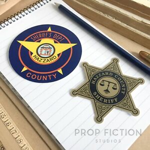 Dukes-of-Hazzard-Prop-County-Sheriff-Equipment-Stickers-Set-Dressing-Decals