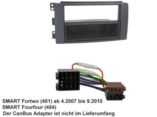 Smart fortwo 451 2007 à 2010 façade radio Ouverture Cadre ISO Connecteur Câble set