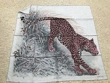 Original Hermes Cashmere Seide Tuch Panthera Pardus 140 cm NEU
