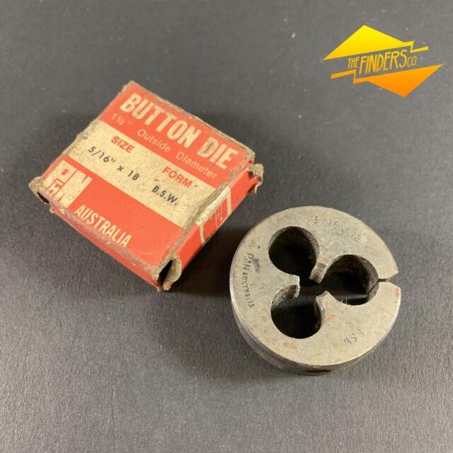 "OD 1 1//2/"" split Die Button RH Whitworth BSW 5//16/"" x 18 DTC"