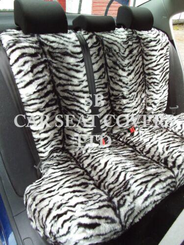 Sitzbezüge I silber tiger kunst Komplettset passend für Fiat Panda Auto