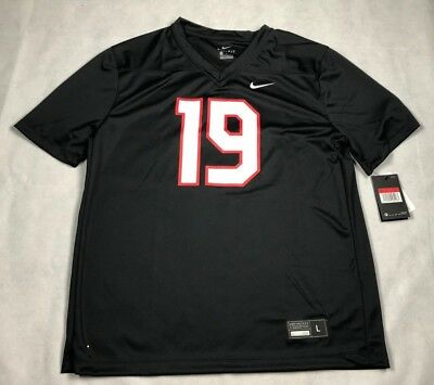 info for 4738d 9f5ee NIKE MENS LARGE STOCK LEGEND FOOTBALL JERSEY #19 BLACK NWT ...