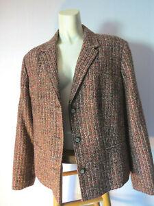 Vintage-16-JENNIFER-MOORE-BROWN-TWEED-BLAZER-pink-jacket-JM-COLLECTION-Lined-L
