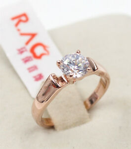 Band-New-Eternity-Promise-Engagement-RING-18K-Rose-Gold-Filled-Size-8