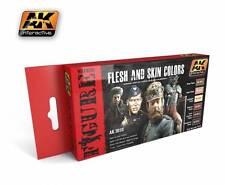 Ak Interactive AKI 3010- Figure Series Flesh And Skin Colors Paint Set