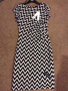 amp; Size Dress 12 Blue Evening Roman Day New White Straight qE87v7g