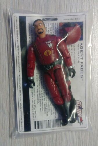 "G.I Joe Cobra Agent Faces v2 2003 Hasbro Mail-In 3.75/"" Action Figure New Sealed"