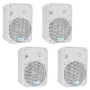 "Pair New Pyle PDWR50W 6.5/"" Indoor//Outdoor Waterproof Speakers White"