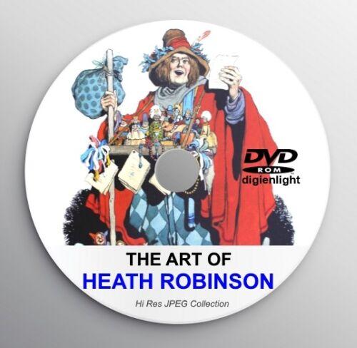 HEATH ROBINSON Classic Book Illustration Arts Classic Fairy Tale Art Deco CD W