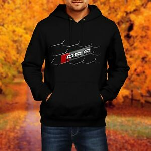 men herren sweatshirt audi rs6 car sweat hoodie pullover. Black Bedroom Furniture Sets. Home Design Ideas