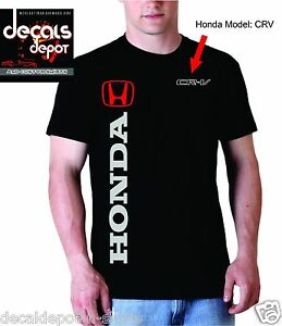 Custom-T-Shirt-for-HONDA-Car-or-Truck-Owners-Accord-Civic-Element-CR-V-amp-more