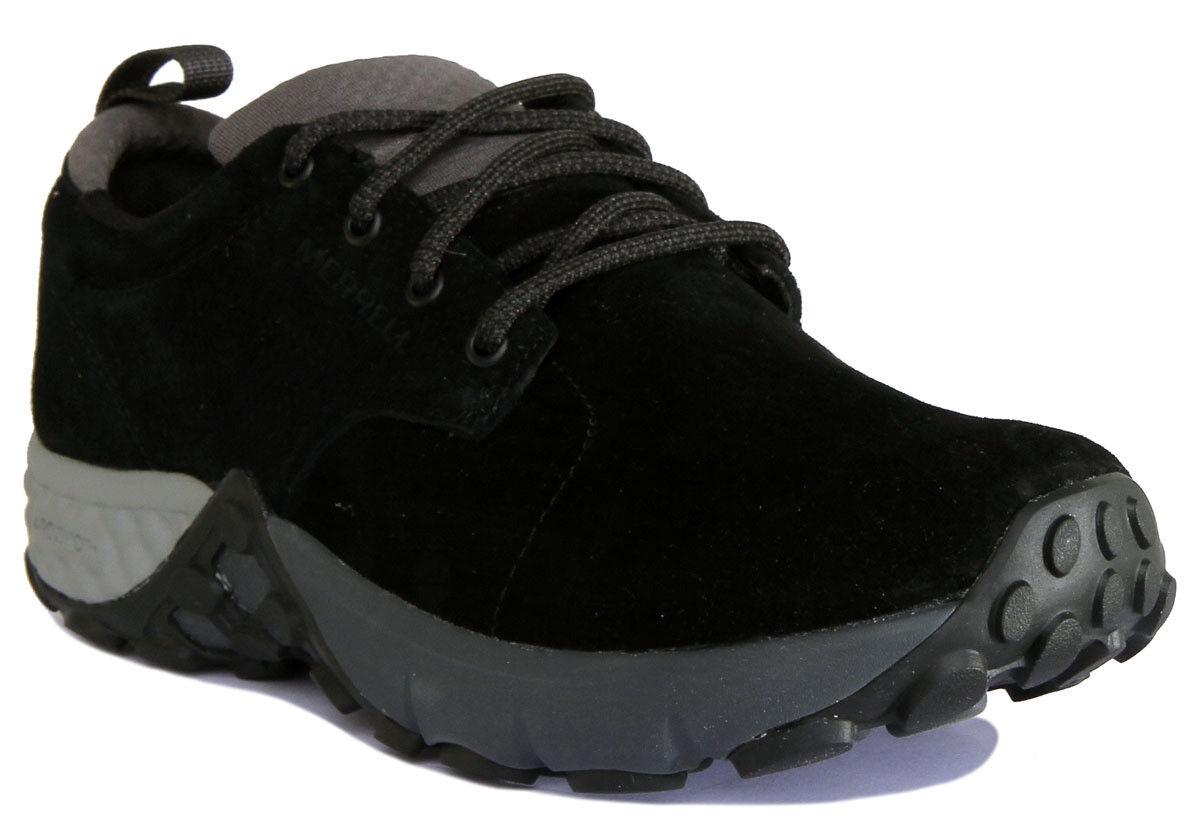 Merrell Jungle Lace AC+ Men Nubuck Leather Black Trainers