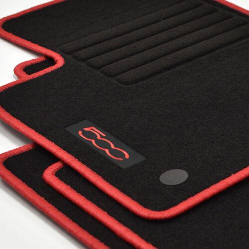 Tappetini in velour 4 pezzi Edition Rosso per Fiat 500 500 Cabrio ab Bj 2013