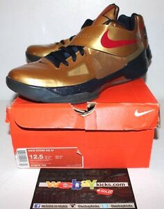 quality design 91693 720df Image is loading Nike-Air-KD-4-IV-Kevin-Durant-Gold-