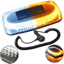 HQRP Barra de luz estroboscópica blanca / amarilla de 240 LED con base magnética