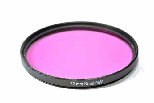Kood bajo el agua Filtro 72mm Filtro Agua Verde Magenta