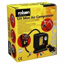 Rolson 250PSI 12v Mini Air Compressor Tyre Inflator Car Bike Bed Pump Cigarette
