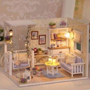Do It Yourself 3d Maison De Poupée Papier Meubles Miniatures Lumière