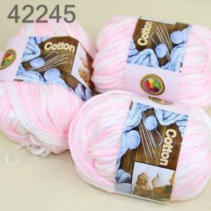 Sale-3Skeinsx50gr-Soft-Cotton-Chunky-Super-Bulky-Hand-Knitting-Crochet-Yarn-45