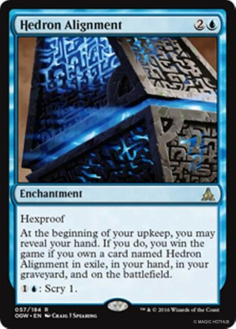 HEDRON ALIGNMENT Oath of the Gatewatch MTG Blue Enchantment Rare