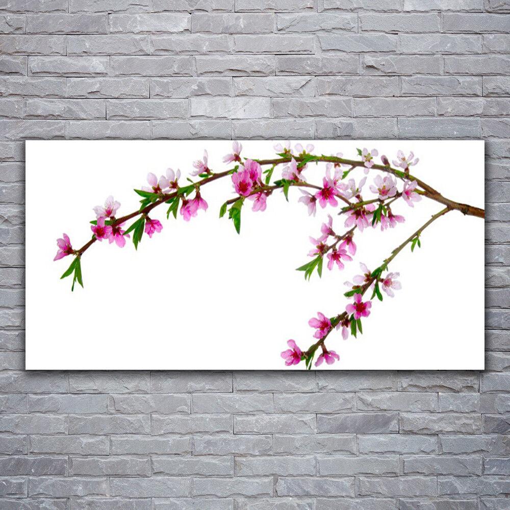 Glasbilder Wandbild Druck auf Glas 120x60 Zweig Blaumen Natur