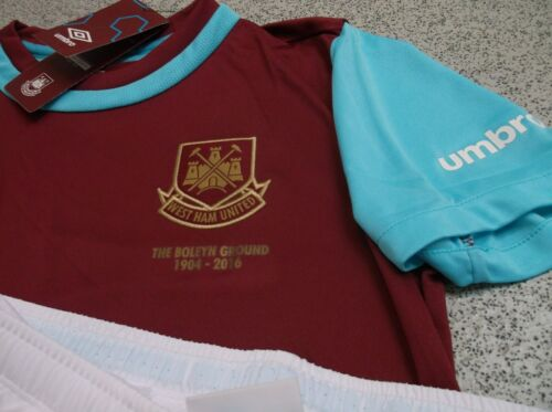 Shirt /& Shorts Only Umbro West Ham United Junior Kids Home Kit 2015//16