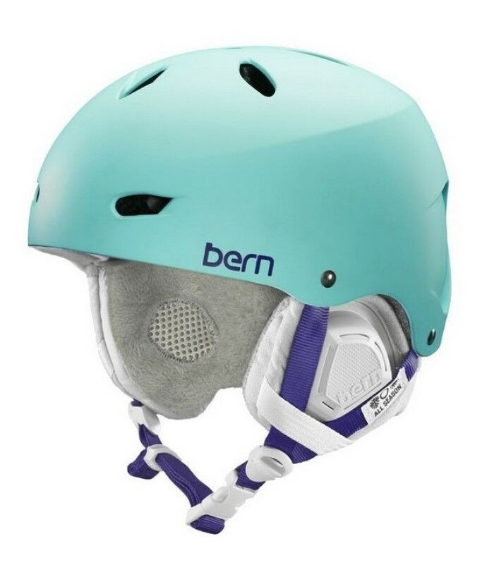 Bern Lenox EPS Bike Ski Snow Womens Helmet w  Brim Light bluee M L