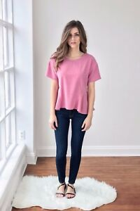 BNWT-STORM-amp-MARIE-PINK-WASHED-SILK-TOP-SIZE-UK-L-14-US-10-RRP-105