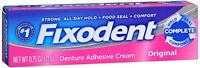 Fixodent Denture Adhesive Cream Original 0.75 Oz (pack Of 8) on sale