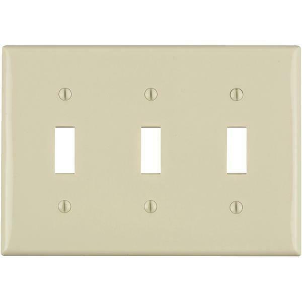 LEVITON 80701-I Ivory LIGHT Toggle WALL PLATE SWITCH Wallplate Set of 2