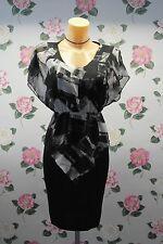 BEAUTIFUL BUTTERFLY SLEEVE CHIFFON PATCHWORK DRESS 18