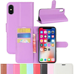 Flip-PU-Leather-Card-Holder-Wallet-Case-Cover-For-iPhone-X-8-7-6s-6-Plus-SE-5-5s