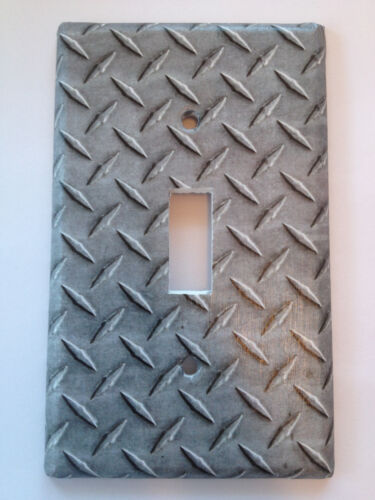 """MADE FROM PLASTIC Harley Davidson Inspired /""""Metal/"""" Light Switch Cover Handmade"""