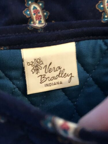 Elite Ships Vera Navy Retired Bradley Rare Crossbody Blue Bag Gratis Euc Paisley nOPNX0k8w
