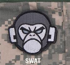 MORALE Patch Mil spec Monkey-ANGRY MONKEY HEAD SWAT hook back