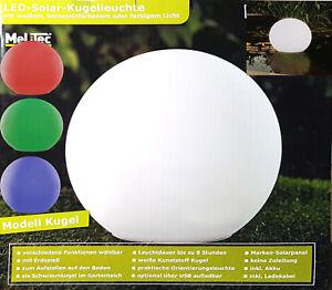 Details Zu Solar Kugelleuchte LED Garten Wegleuchte Akku Verschiedene  Farben Ohne Zuleitung