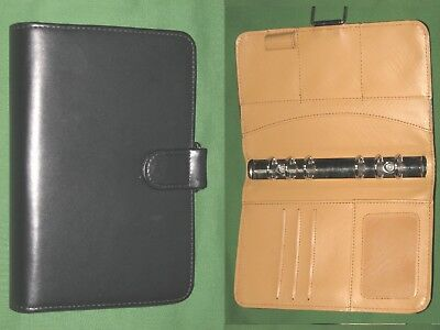 """COMPACT ~ 1.0/"""" ~ RED Faux Leather BLACK Nylon Franklin Covey 365 Planner BINDER"""