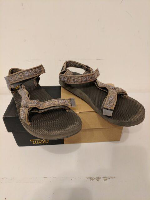 e3beb47854ee9 Women Teva Original Sandal 1003987 Old Lizard Brown Webbing Straps Shoes 10
