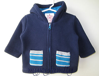 HANNA ANDERSSON Cozy Ever After Fleece Jacket Navy 60 6-9 months NWT