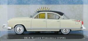 IKA Kaiser Carabela - 1958 - white / black - Atlas 1:43