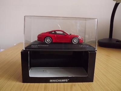2012 Porsche 911 Carrera S Red 1:43 Scale Minichamps 410-060220
