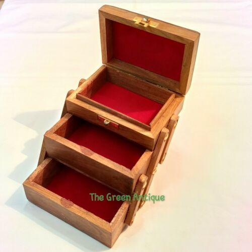 Wooden Box Beautiful Style Vintage Collectible Decorative Gift