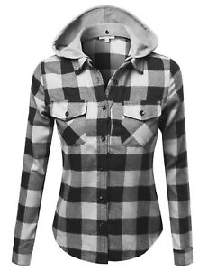 Fashionoutfit Women S Casual Soft Plaid Check Detachable