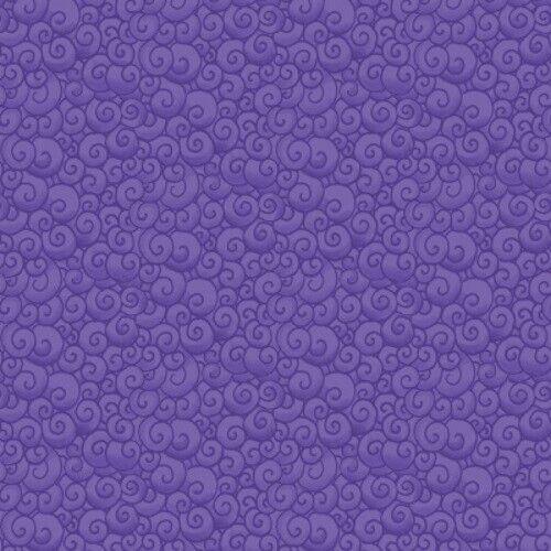 Benartex Awaken the Day by Jim Shore 7585 66 Purple Swirls  Cotton