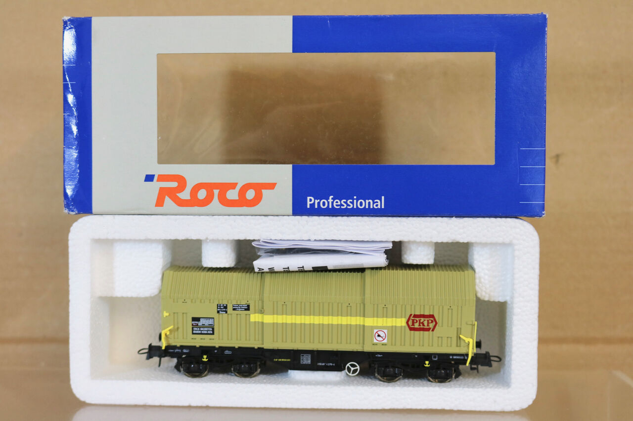 ROCO 47437 PKP STACJA KRAKOW TELESCOPING SLIDING DOOR WAGON 270-4 MINT BOXED nl