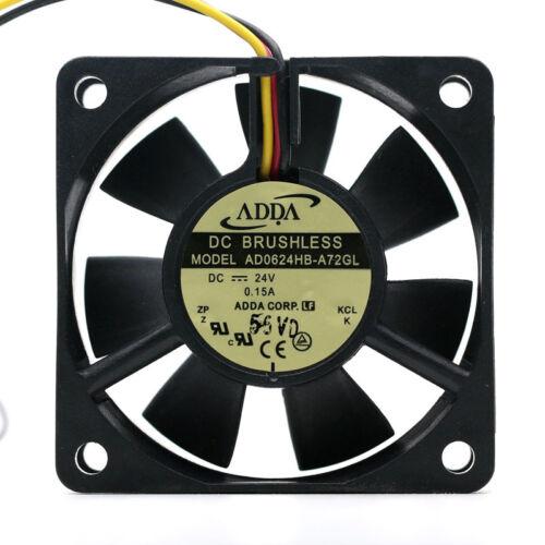 Para Adda AD0624HB-A72GL6025 24 V 0.15 A 6 cm Inversor De Tres Hilos ventilador de refrigeración