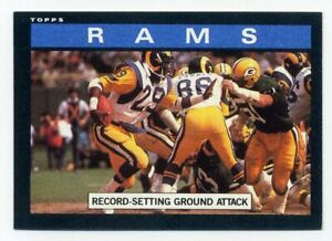 1985-Topps-ERIC-DICKERSON-Record-Setting-Los-Angeles-Rams-TEAM-CARD-77-85